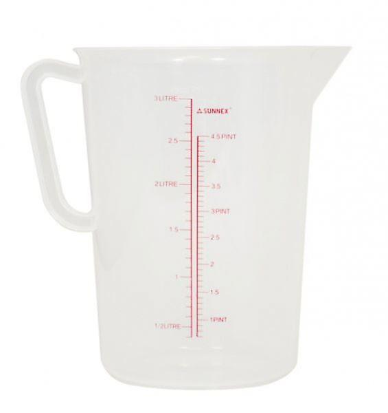 3 Litres Measuring Jug Polypropylene Clear For Gravy Or Stock