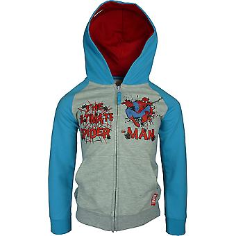 Boys Marvel Spiderman Full Zip Hooded Sweatshirt