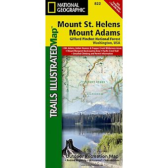 Mount St. Helens/Mount Adams (Gifford-Pinchot National Forest) : Trails Illustrated Other Rec. Areas (National Geographic Trails Illustrated Map) (Map) by National Geographic Maps