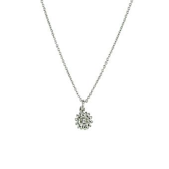 Fossil ladies chain necklace stainless steel flower cubic zirconia JA6394040
