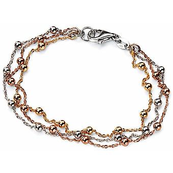 925 Silver Rose Gold Plated And Gold Plated Bracelet Trend White