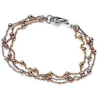 925 srebro biały Trend złoto pozłacane i złota bransoleta pozłacane Rose