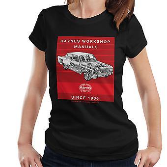 Haynes Workshop Manual 0025 Ford Zodiac Stripe Damen T-Shirt