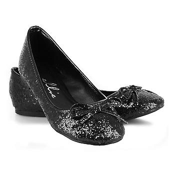 Ellie Shoes E-016-Mila-G Adult Glitter Flat With Bow