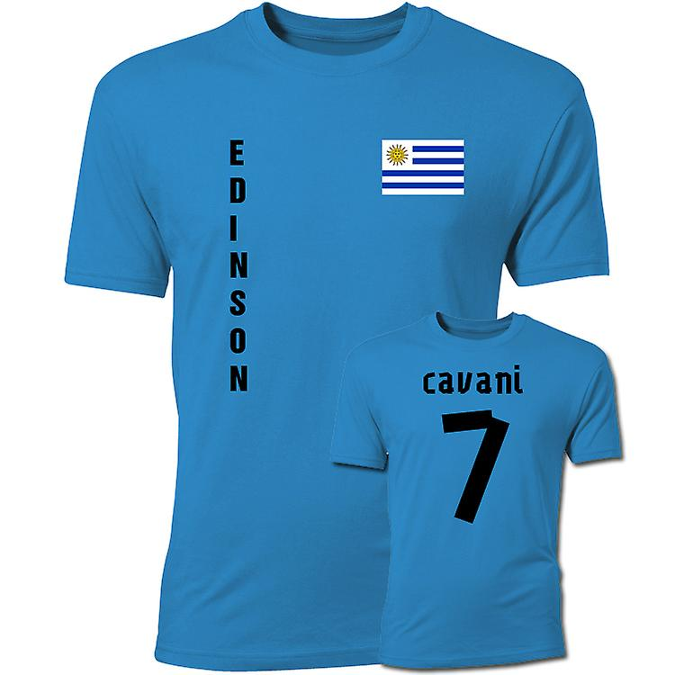 Edinson Cavani Uruguay Flag T-Shirt (Blue)