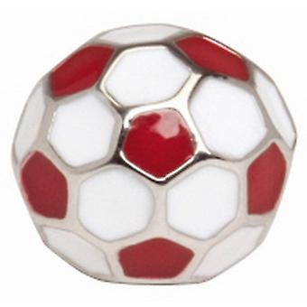 Zennor Football Tie Tac - White/Red