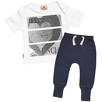 Spoilt Rotten I Love My Uncle Baby T-Shirt & Navy Joggers Outfit Set