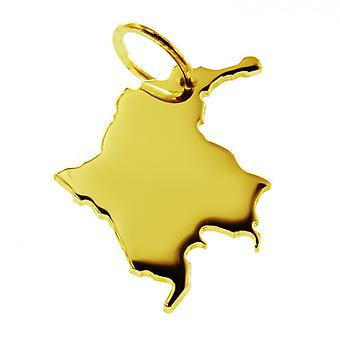Trailer map Colombia in massive 585 gold pendants