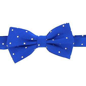 David Van Hagen Polka Dot Bow Tie - Blue/White