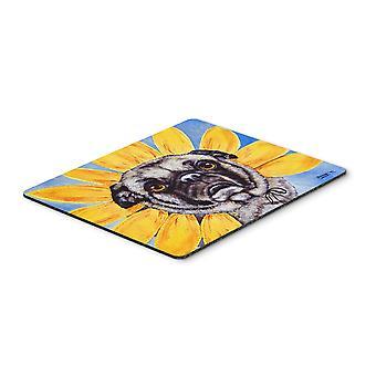 Carolines Treasures  AMB1058MP Sunflower Pug Mouse Pad, Hot Pad or Trivet