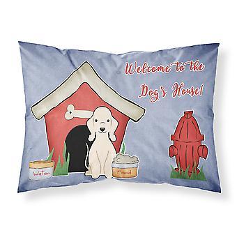 Dog House Collection Bedlington Terrier Sandy tissu taie d'oreiller Standard