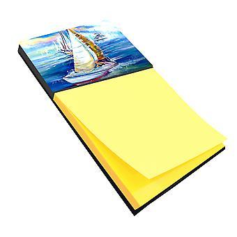 Carolines Treasures  JMK1073SN Rock my Boat Sailboats Sticky Note Holder