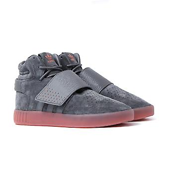 Adidas Originals Tubular Invader Strap Cement Suede Trainers