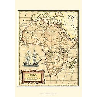 Africa Map Poster Print by Vision studio (13 x 19)