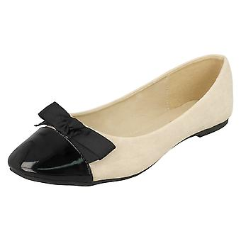 Ladies Spot On Ballerina Flats