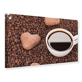 Lærred Print dejlige kaffepause