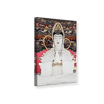 Canvas Print Meditating Buddha Statue