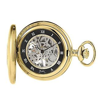 Woodford Albert Skeleton Pocket Watch - Gold