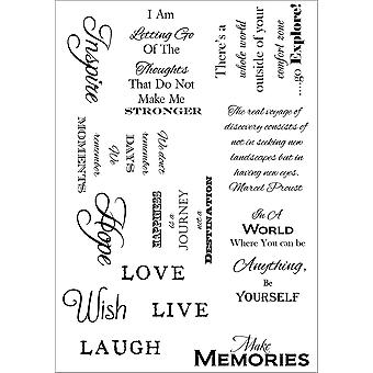 Debbi Moore Life Quotes A5 Stamp Sheet-Inspiration 3 DMNS035