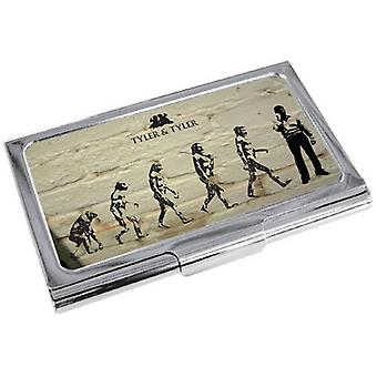 Tyler and Tyler White Brick Evolution Business Card Holder - Cream/Black/Silver