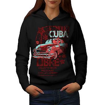 Cuba Libre Revolution Women BlackHoodie | Wellcoda