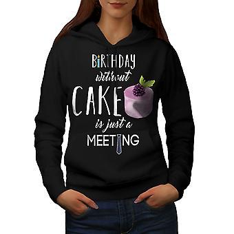 Party Cake Funny Women BlackHoodie | Wellcoda