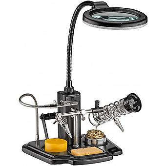 Soldering aid with LED lamp Magnifier third hand foot soldering station soldering Kit + bracket