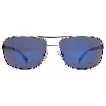 American Freshman Metal Rectangle Pilot Sunglasses In Light Gunmetal