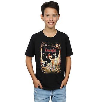 Disney Boys Bambi Retro Poster T-Shirt