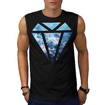 Abstrakte Diamant Männer BlackSleeveless T-shirt   Wellcoda