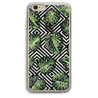 iPhone 6 Plus / 6S Plus Transparent Case (Soft) - Geometric jungle