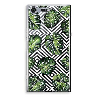 Sony Xperia XZ Premium Transparent Case - Geometric jungle