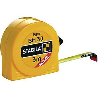 Tape measure 3 m Steel Stabila BM30 16450