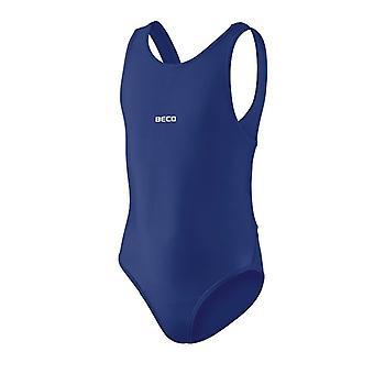 BECO Mädchen alle Komfort Badeanzug - Navy