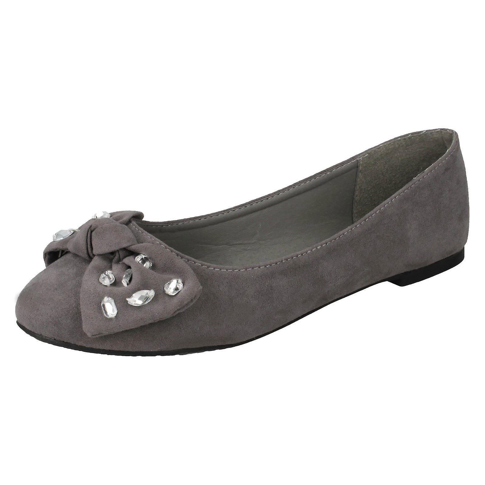 Ballerina Ladies Shoes Spot Bow Jewel On F80386 Zvw4qvf