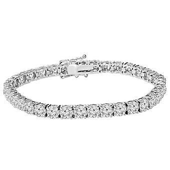 9 1/2 ct echte ronde Diamond Tennis Armband 7