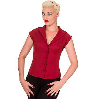 Prohibido rojo sueño maestro cuello camisa XS