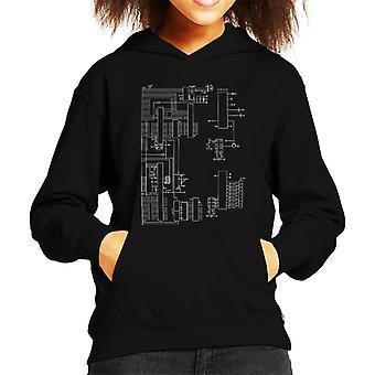 Nintendo Computer Schematic Kid's Hooded Sweatshirt