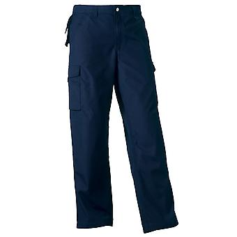 Russell Collection Heavy Duty Hard Wearing Mens Cargo Combat Workwear Trousers