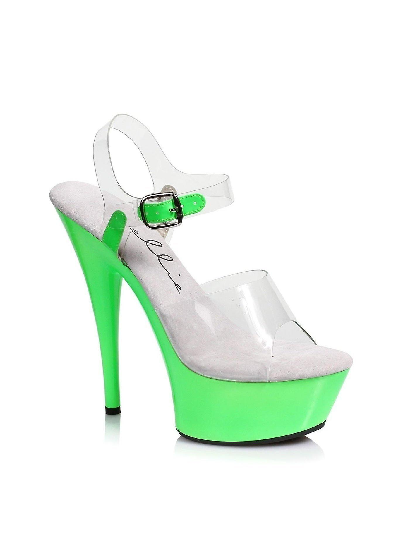 Ellie Schuhe E-609-Roxy 6 Neon Stiletto Sandale Blacklight sensitive
