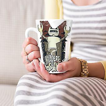 Invaders Space Robot Geek NEW White Tea Coffee Ceramic Latte Mug 17 oz | Wellcoda