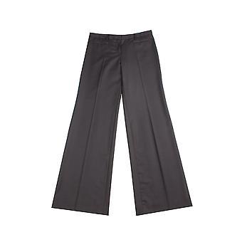 Miu Miu Women's Virgin Wool Trouser Pants Black