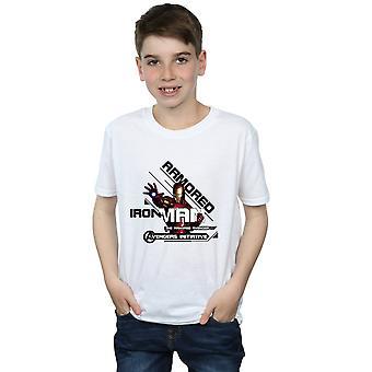Marvel Boys Avengers Iron Man Armoured Avenger T-Shirt