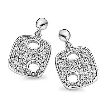 Orphelia Silver 925 Drop Earring Luxe Pave Zirconium  ZO-5098