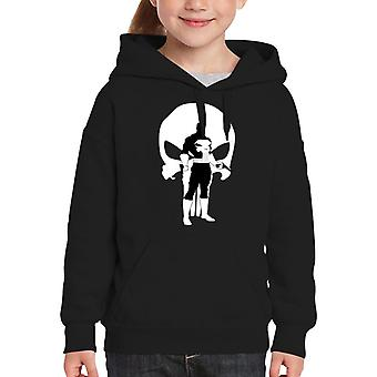 Der Punisher Comic Book Anzug Silhouette Kids Hooded Sweatshirt