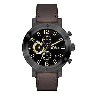 homens s.Oliver relógio de pulso SO-3096-LC