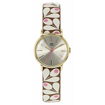Orla Kiely Womens Patricia Tan et rose bracelet impression OK2202 Watch