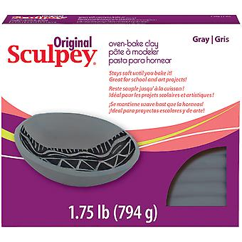 Sculpey Original Polymer Clay 1.75Lb-Gray