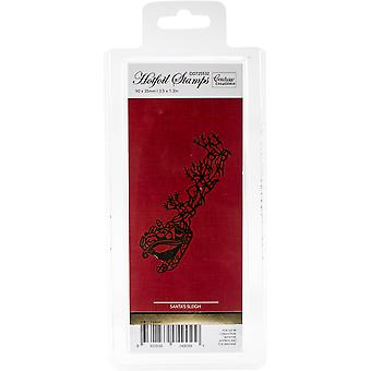 Couture Creations Let Every Day Be Christmas Hotfoil Stamp-Santa's Sleigh 3.5