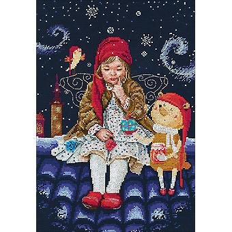 Fairy Tales On The Roofs Counted Cross Stitch Kit-9.75